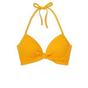 NWT Shade & Shore Light Lift Bikini Top 34D Yellow